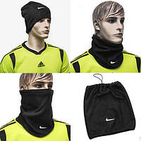 Флисовый горловик-шапка, бафф, гейтор Nike Найк черный