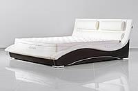 Кожаная двуспальная кровать Sonata Mobel B220 Молочная, КОД: 1563932