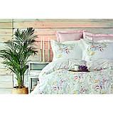 Комплект постельного белья Karaca Home ранфорс евро размер Reveal somon, фото 2
