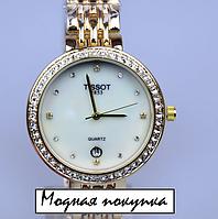Стильные женские кварцевые часы Tissot, фото 1