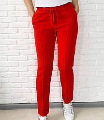 Модные женские брюки с отворотом