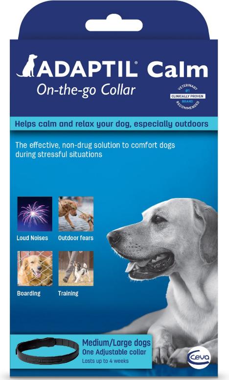 Ceva ADAPTIL АДАПТИЛ заспокійливий нашийник для собак  з феромонами M-L (об шиї до 62,5 см, дов - 70 см)