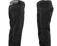 Черные  брюки на флисе 116-152