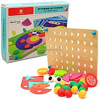 Набор для занятий мозаикой (конструктор, кнопки) 8 карт, 42 детали (130895)