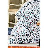 Комплект постельного белья Karaca Home ранфорс евро размер Mai lacivert, фото 3