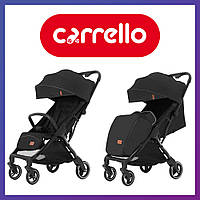 Коляска прогулочная CARRELLO Turbo CRL-5503 Deep Black | Коляска Карелло Черная с автоматическим складыванием