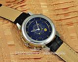 Мужские наручные часы Patek Philippe Sky Moon Tourbillon Silver Black реплика отличное качество Патек Филип, фото 2