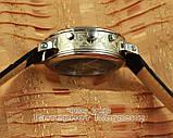 Мужские наручные часы Patek Philippe Sky Moon Tourbillon Silver Black реплика отличное качество Патек Филип, фото 3