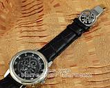 Мужские наручные часы Patek Philippe Sky Moon Tourbillon Silver Black реплика отличное качество Патек Филип, фото 5