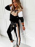 Женский стильный спортивный костюм двухнить, норма и батал, фото 2