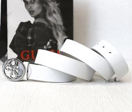 Женский кожаный ремень (4001) white