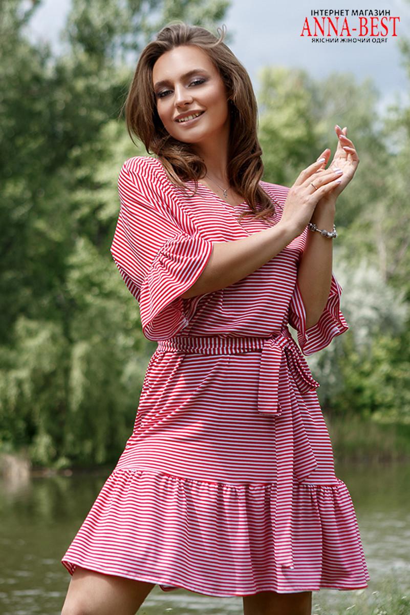 """Віскозне смугасте плаття літнє """"Морячка"""""""
