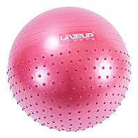 Фитбол массажный с насосом LiveUp HALF MASSAGE BALL