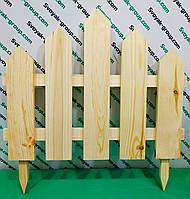 """Забор декоративный штакетный """"Wood"""".Ограждение садовое. Секция 50х50 см."""