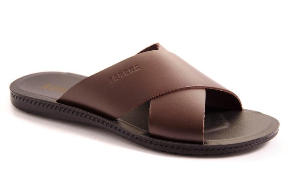 Шлепанцы мужские коричневые Konors 7210/Т021-2