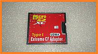 Переходник адаптер карта памяти micro SD -> CF compact flash