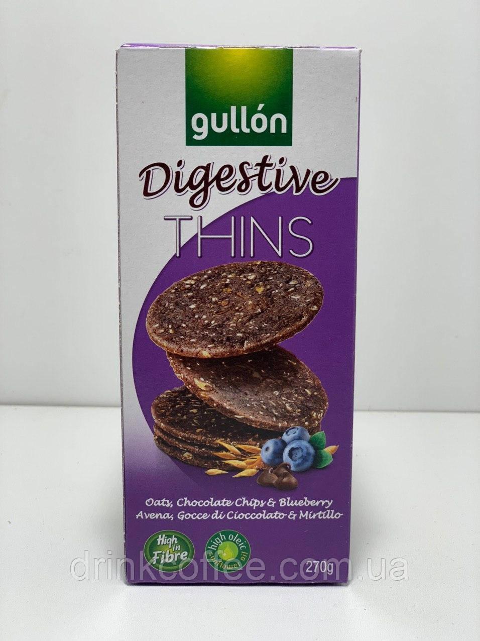 Печенье Gullon Digestive Thins c голубикой Испания 270г