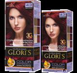 Краска для волос 4.3 дикая вишня Glori's 50мл