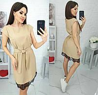 Платье с кружевным низом летнее женское (ПОШТУЧНО)