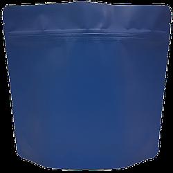 Пакет Дой-пак 200*190 дно (36+36) синий с тактильным матовым лаком
