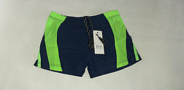 """Плавки гидро шорты   """"Benetton"""". Размеры 48-56. Чёрный с зелёным. Оптом."""