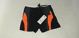 """Плавки гидро шорты   """"Benetton"""". Размеры 48-56. Чёрный с оранжевым. Оптом."""