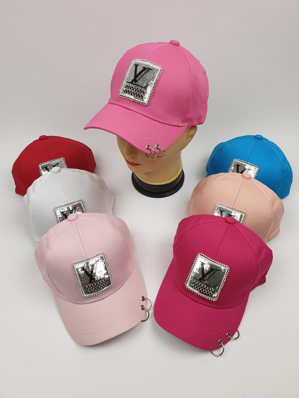 Детские кепки Louis Vuitton для девочек оптом, р.55