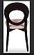 Обідній, дерев'яний стілець з м'якою сидушкою -Космо з-615, фото 4