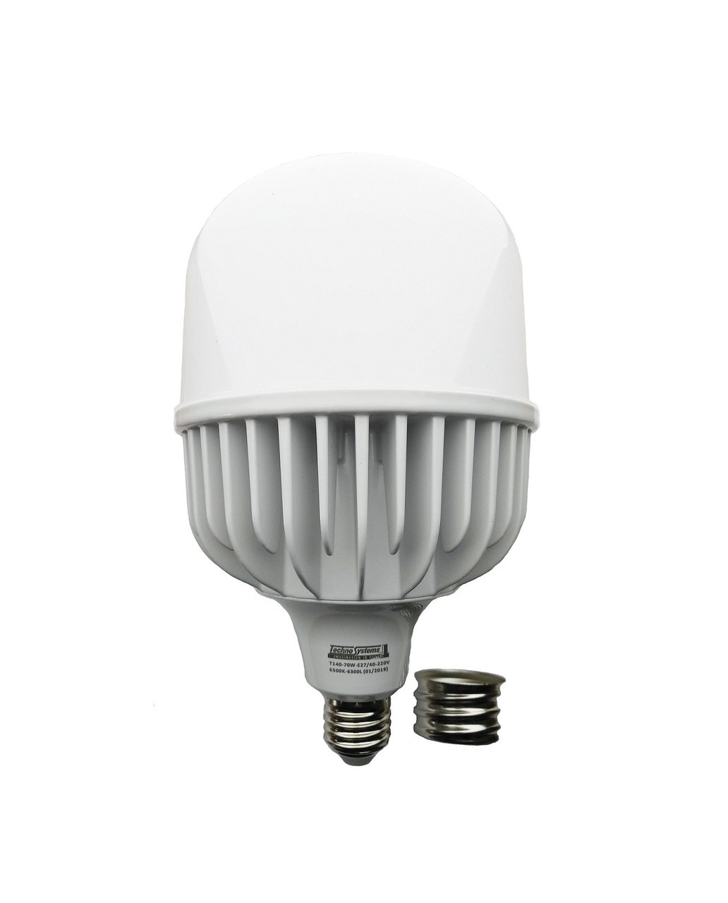 Лампа світлодіодна LED Bulb T160 70W E27 E40 6500K 220V 6300L Alum ICCD TechnoSystems TNSy5000108
