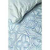 Комплект постельного белья Karaca Home ранфорс евро размер Anemos mavi, фото 2