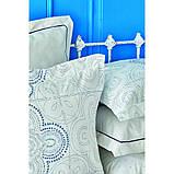 Комплект постельного белья Karaca Home ранфорс евро размер Anemos mavi, фото 3