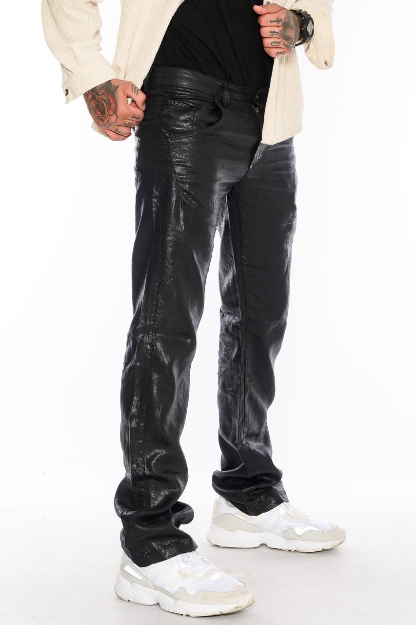 Джинсы мужские Franco Benussi FB 1117-530 лен черные