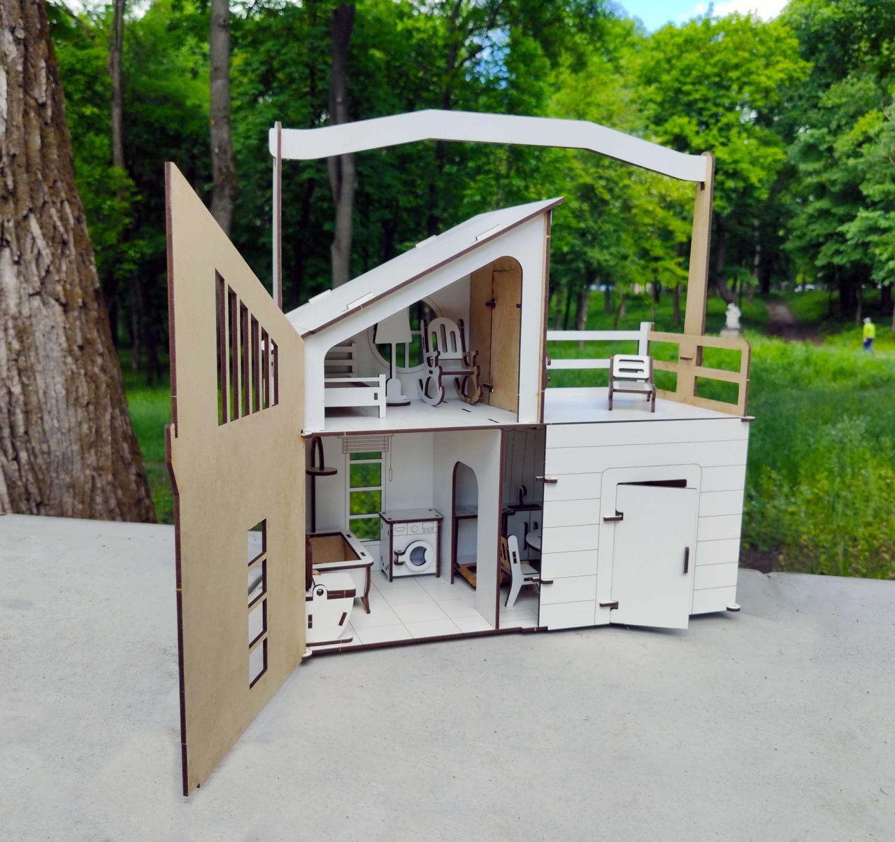 Кукольный Домик DaBo HomeLOL для прогулок c мебелью