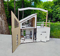 Кукольный Домик DaBo HomeLOL для прогулок c мебелью, фото 1