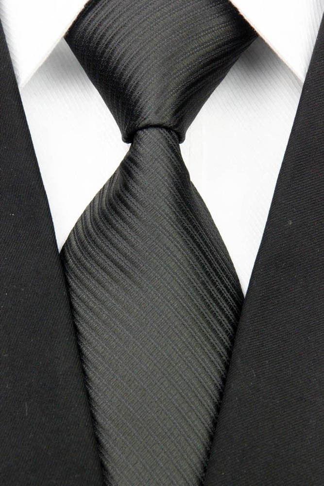 """Черный галстук в полоску - Интернет магазин """"На пафосе"""" в Виннице"""