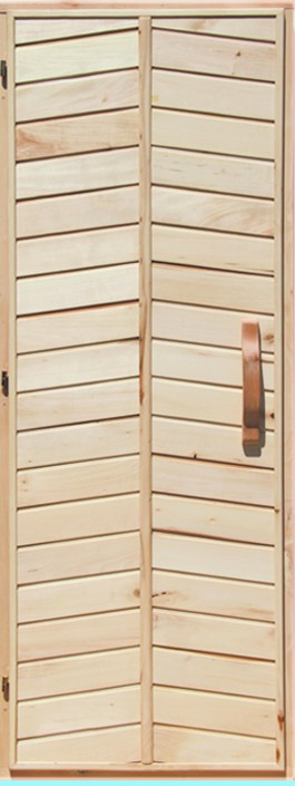 Деревянная дверь глухая для сауны Украина 70х190 липа высший сорт