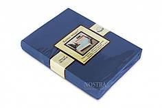 Трикотажная простынь на резинке Nostra (180*200) темно синяя