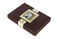 Трикотажная простынь на резинке Nostra (180*200) Шоколад