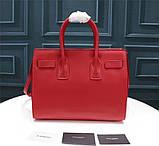 Cумка Classic Sac De Jour Ив Сен Лоран натуральная кожа  32 см, цвет красный, фото 2