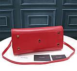 Cумка Classic Sac De Jour Ив Сен Лоран натуральная кожа  32 см, цвет красный, фото 3