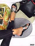 Женские шлепки Hermes натуральная кожа, люкс качество, фото 3