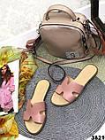 Женские шлепки Hermes натуральная кожа, люкс качество, фото 10