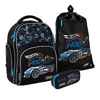 Набор рюкзак + пенал + сумка для обуви Kite Hot Wheels 706S