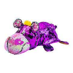 М'яка іграшка з паєтками 2 в 1 - ZooPrяtki - ЖИРАФ-БЕГЕМОТ (30 cm)