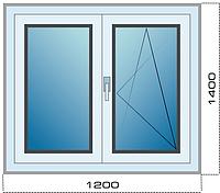 Окна металлопластиковые ПВХ Германия КВЕ 70 ST профиль КБЕ 70мм