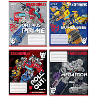 Тетрадь Kite 235 Transformers 12 листов косая линия TF20-235