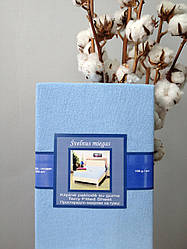 Махровая простынь на резинке Nostra (200х200) Голубая