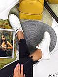 Женские кроссовки кеды из натуральной кожи, дышащая перфорация, пудра, белые, бежевые, фото 5