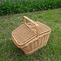 Корзина для пикника плетеная