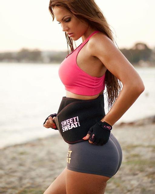 Спортивный утягивающий пояс для похудения с эффектом сауны Sweet Sweat Waist Trimmer (Реплика)